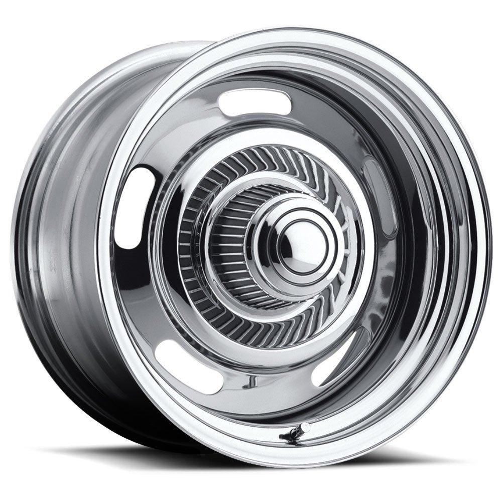 Re Chrome Rims >> Amazon Com American Muscle Rally Wheels Rims 15x8 Inch 127