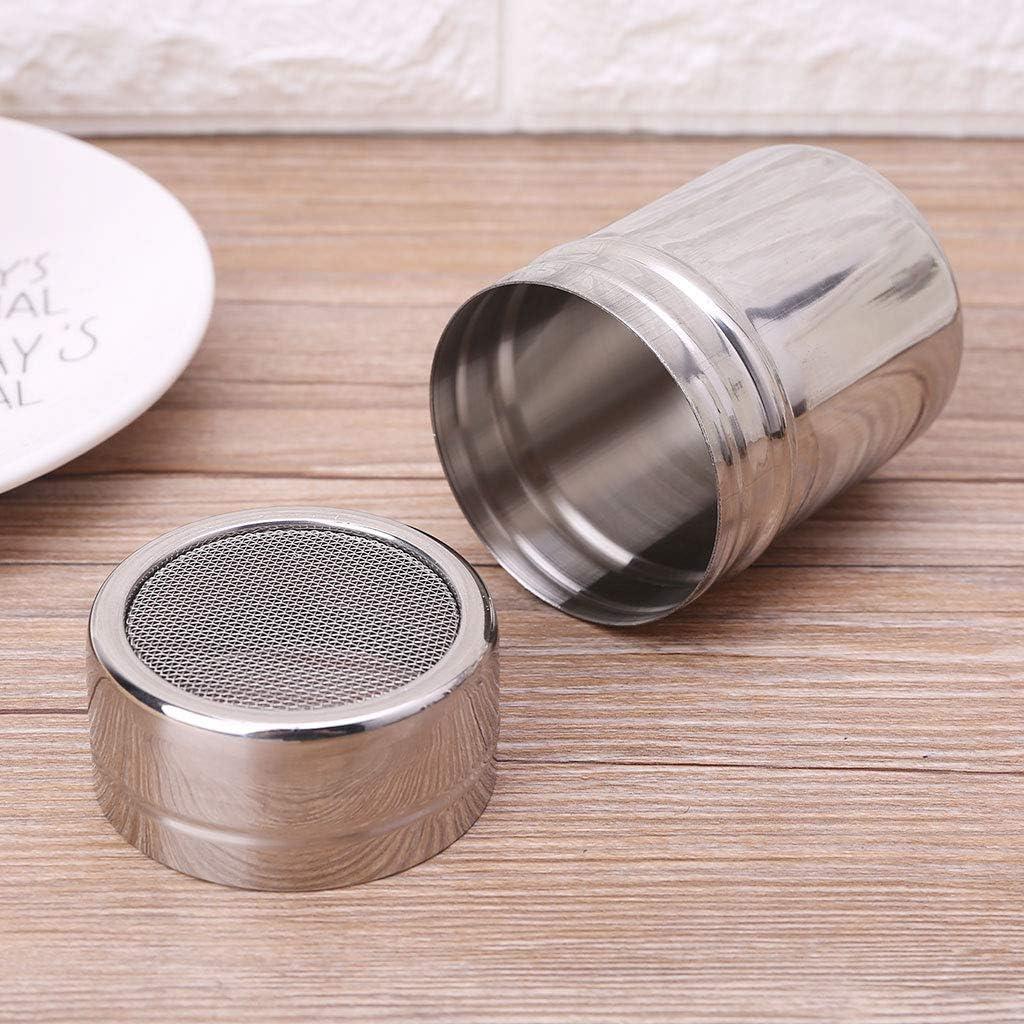 qingqingR Stainless Steel Mesh Flour Sifter Icing Sugar Salt Dredger Chocolate Powder Shaker 3 Sizes