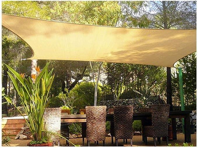 WGGOG El sombreado Exterior Red del Anti-Sol Sombra Lona Amarilla Toldos Toldos Carpa Netting 95% Protector Solar Pergola Coche Toldo for Patio terraza (Size : A-3 * 4m(9.8 * 13.1ft)): Amazon.es: Hogar