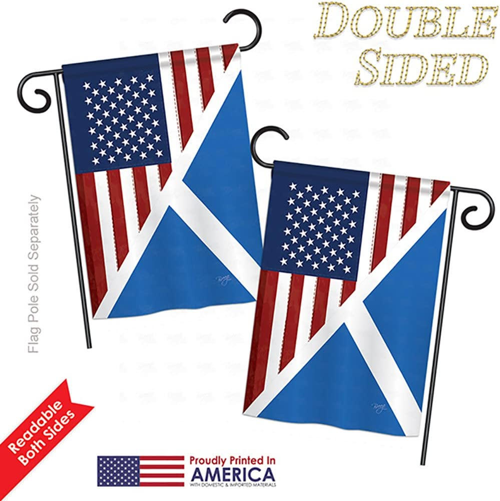 Breeze Decor Us Scotland Friendship Flags Of The World Everyday Impressions Decorative Vertical Garden Flag 13 X 18 5 Printed In Usa Garden Outdoor