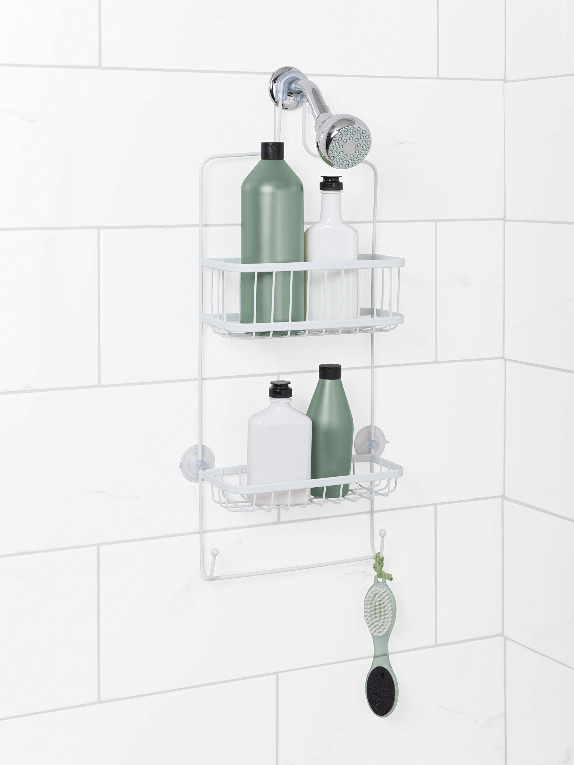 Zenna Home 7617WW, Over-the-Showerhead Caddy, White by Zenna Home (Image #2)
