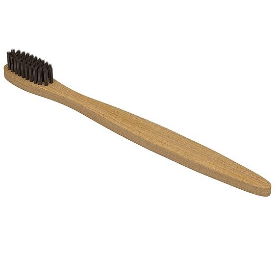 SOMATOX - Cepillo dental Eco bambú con cerdas de carbón activado - Cuidado y Blanqueamiento de dientes natural • Cepillo de dientes de bambú biodegradable ...