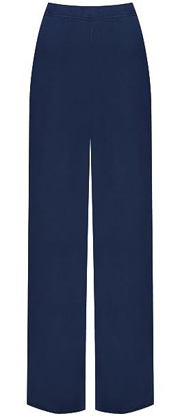 WearAll – Pantalones palazzo para mujer en tallas grandes - Azul - 8/10 US