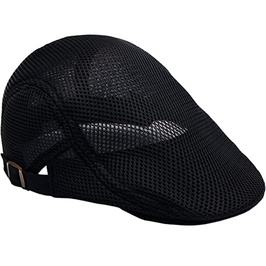 d260887f793 Men s mesh Flat Cap Duckbill Beret Ivy Newsboy Driving Cabbie Caps Hunting  Hat