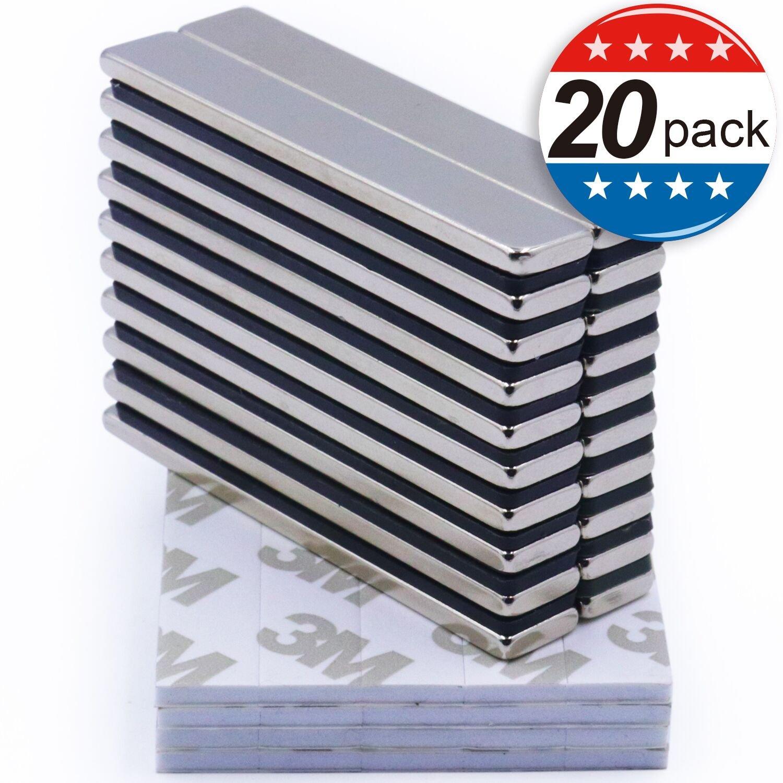 60 x 10 x 3 mm Rare-Earth Metal Neodymium Magnet Powerful Neodymium Bar Magnets Pack of 16