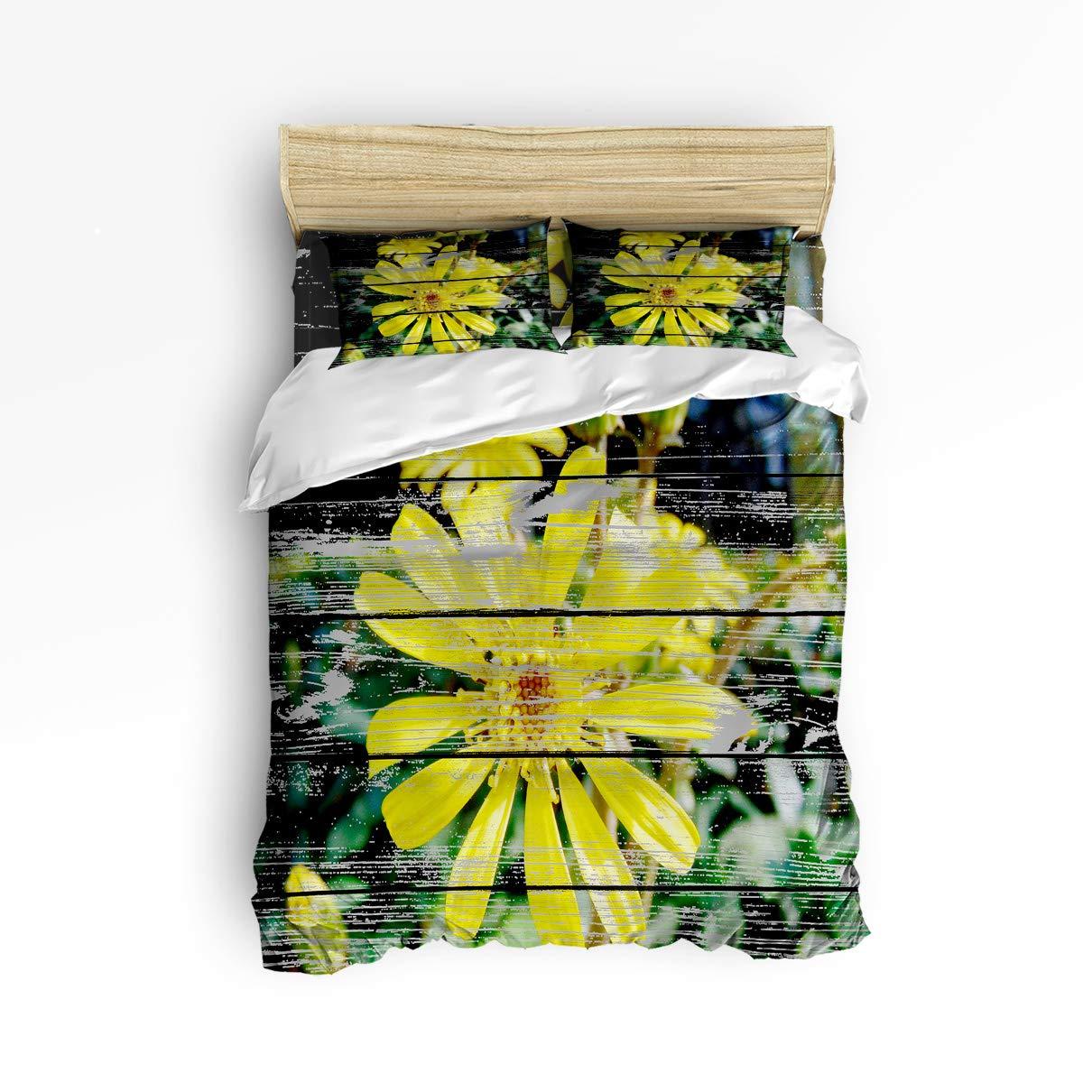 YEHO アートギャラリー 掛け布団カバーセット キュートな寝具セット 女の子 男の子 サンセットの美しさのきっかけ ココナッツ大人ベッドセット 4点 フラットシート1枚、布団カバー1枚、枕カバー2枚 キング 20181119WHLSJTYAGYASSTW01526SJTDYAG B07KPDTXTX Small Yellow Floweryag5658 キング