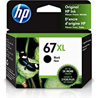 HP 67XL | Ink Cartridge | Works with HP Envy 6000 Series, HP Envy Pro 6400 Series, HP DeskJet 1255, 2700 Series, DeskJet…