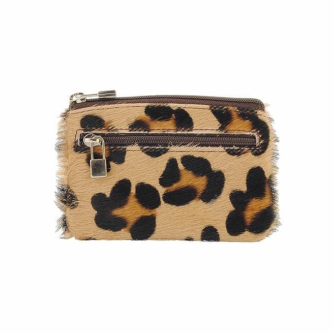 Llavero monedero piel leopardo: Amazon.es: Ropa y accesorios