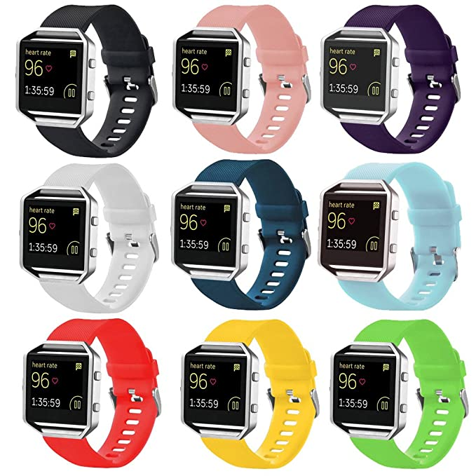 StrapsCo Silicone Rubber Watch Band Strap for Fitbit Blaze - Small/Large | Amazon.com
