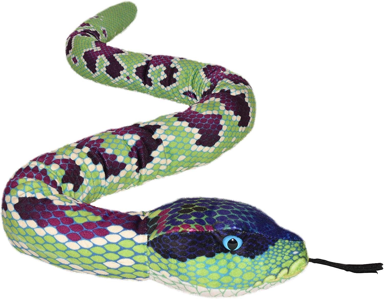 Wild Republic- Serpiente Anaconda color//modelo surtido Multicolor 1 137 cm Snakesss Peluche