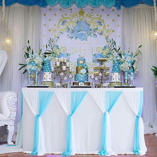Suppromo faldas de mesa de tul para mesas rectangulares o mesas ...