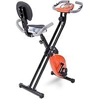 FITODO Exerciseur Stationnaire Vertical de vélo magnétique Pliable avec la Hauteur réglable et Le Niveau de résistance