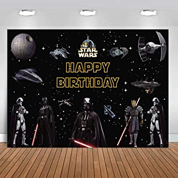 Details about  /Star Wars Photography Background Boys Birthday Party Photo Backdrop Banner Decor