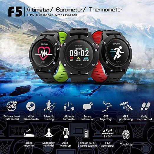 SeniorMar F5 Smart Watch IP67 Monitor de frecuencia cardíaca ...