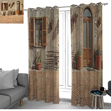 Amazon.com: NUOMANAN Blackout Curtains for Bedroom Tuscan ...