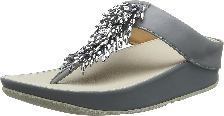 FitFlop Rumba Toe-Thong Sandals, Sandalias con Punta Abierta para Mujer