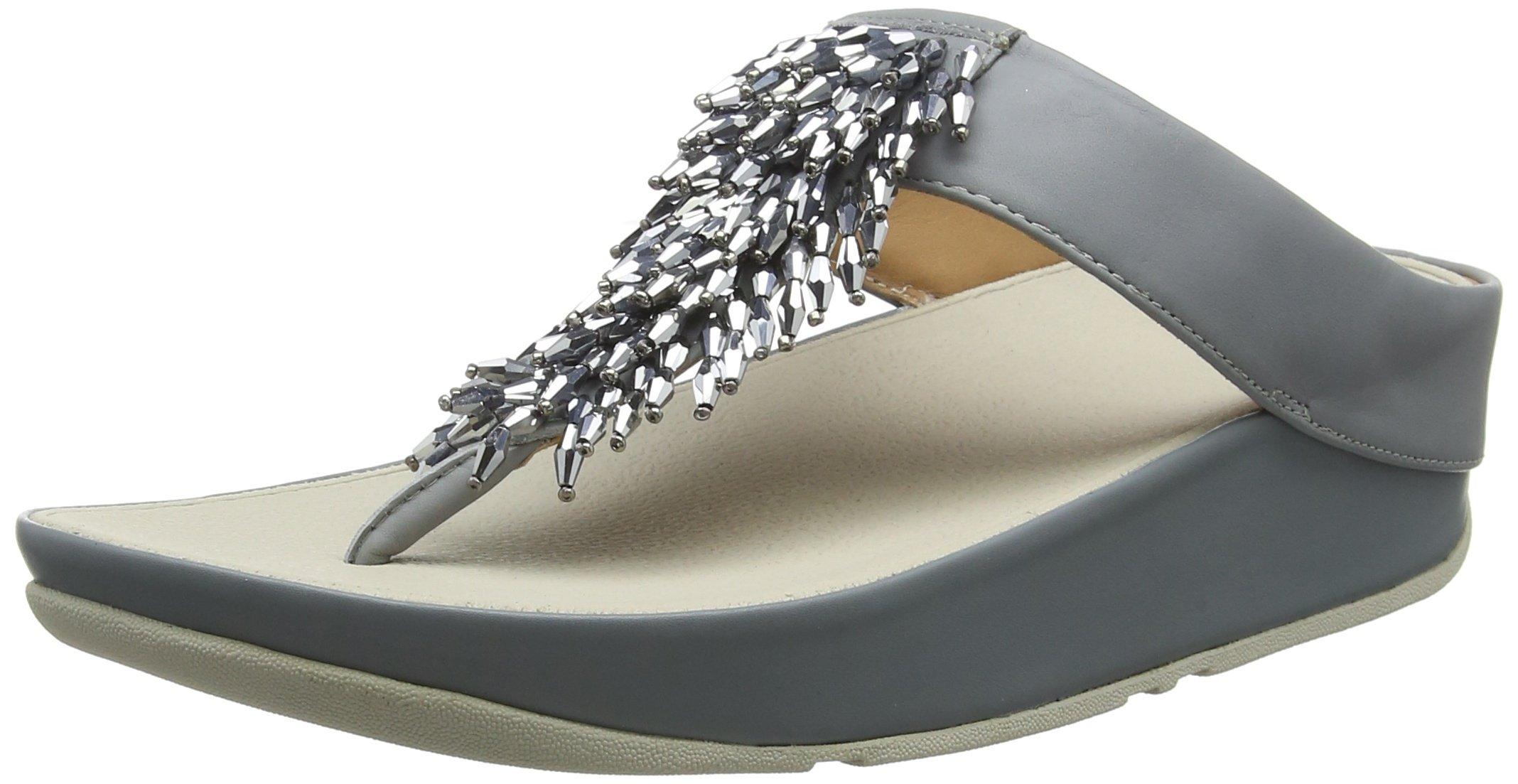 4e7c5c28d21 FitFlop Women s Rumba Toe-Thong Sandals Flip-Flop Dove Blue 5 M US
