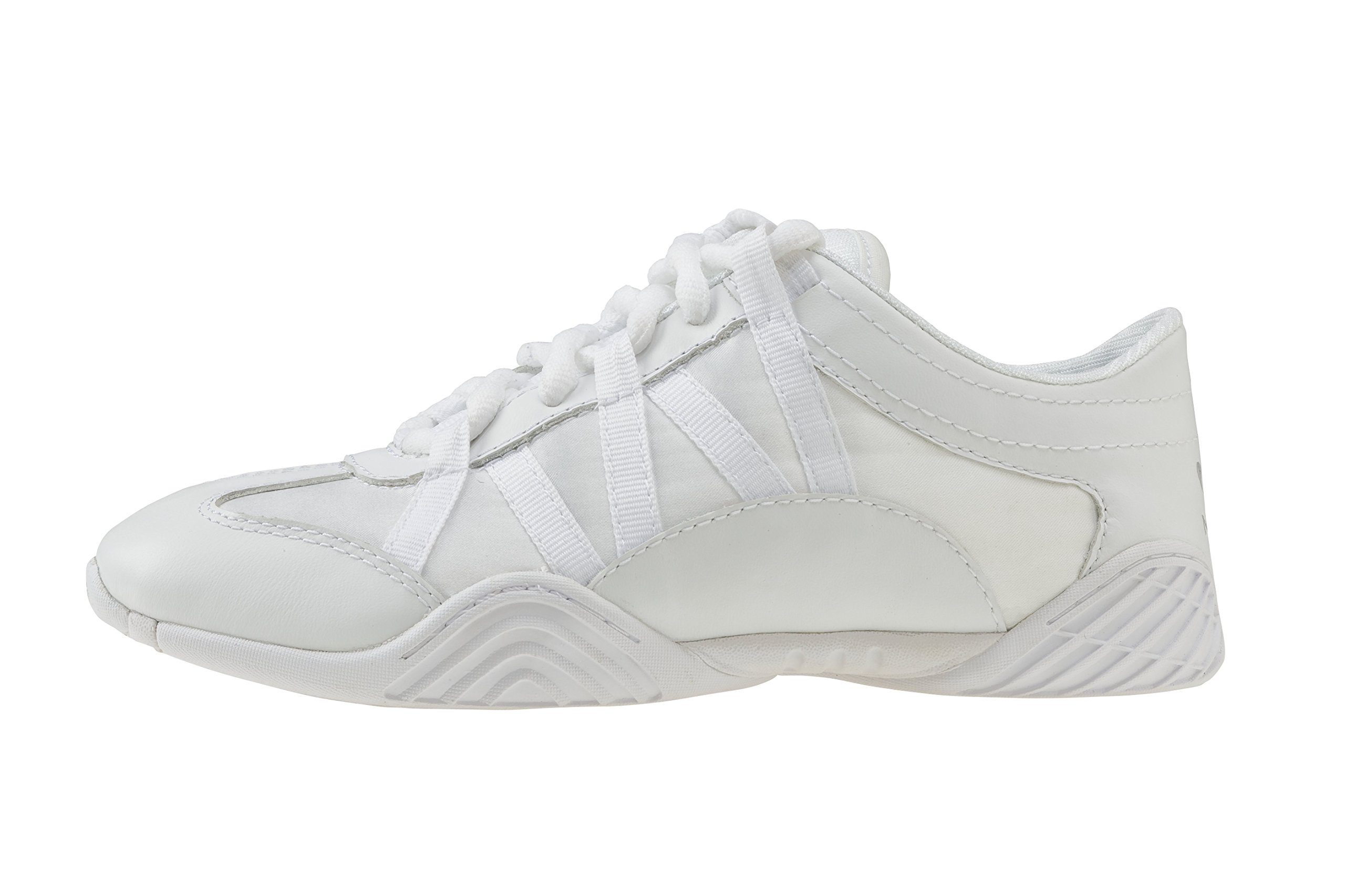 Nfinity Youth Evolution Cheer Shoes, White, Y13 by Nfinity (Image #3)