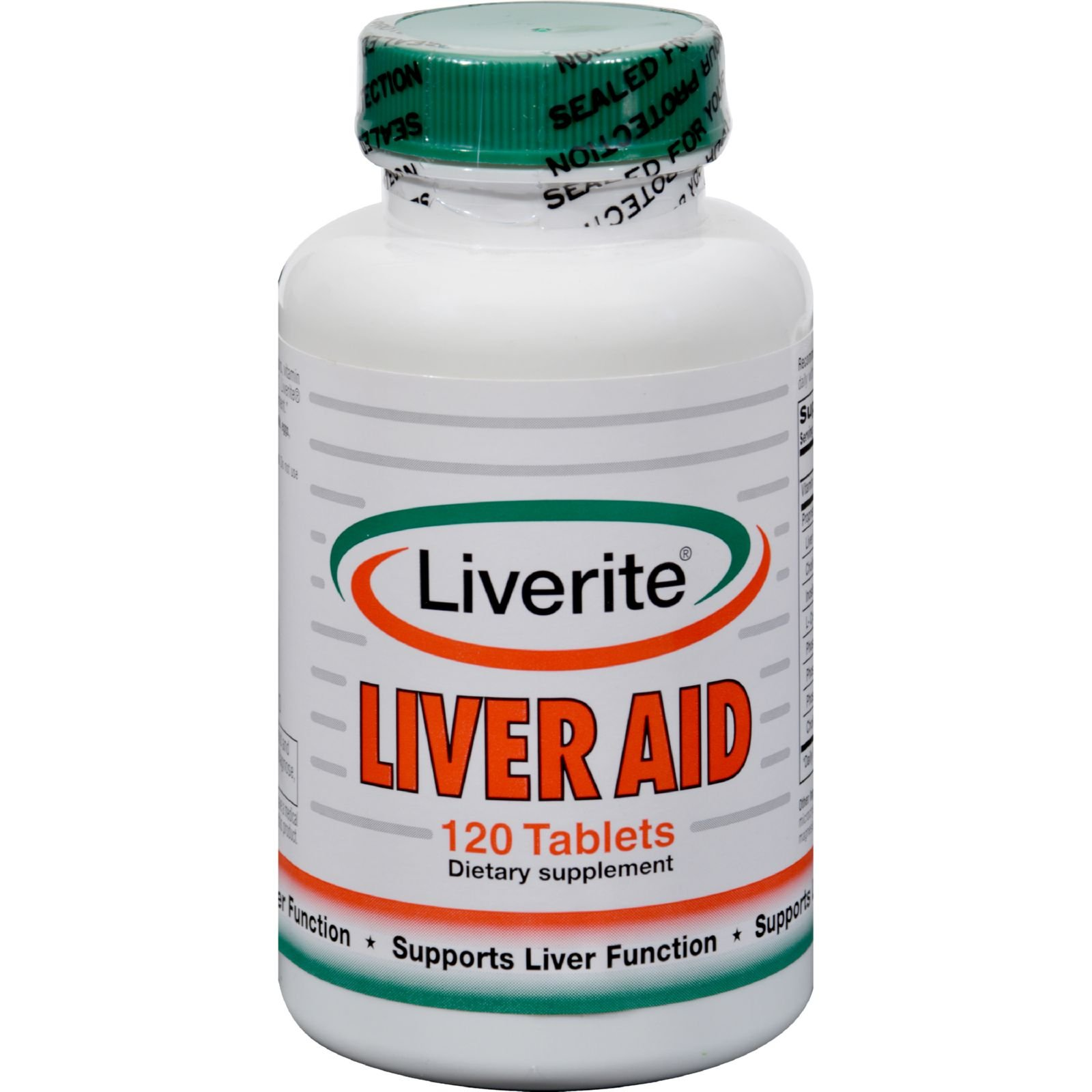 Liverite Liveraid - Supports Liver Function - 120 Tablets (Pack of 2)