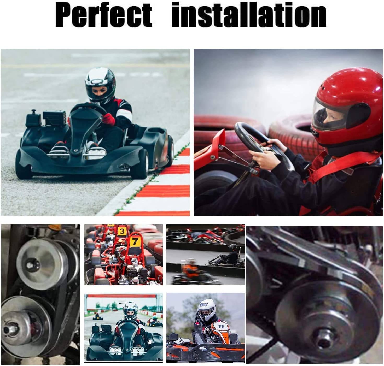 New 30 Series 6.5 HP Go Kart//Mini Bike Torque Converter Clutch Driver Pulley Replacement Comet Manco 212CC 3//4 Bore Max Torque