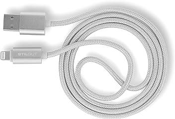 StilGut B00UL716BY 1m USB A Lightning Argento Cavo per Cellulare