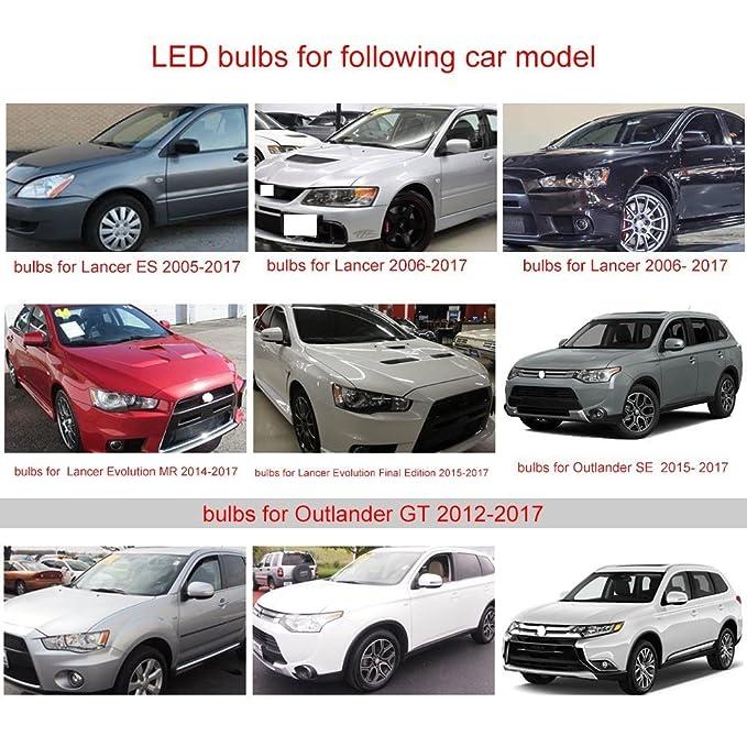 muchkey® para Mitsubishi Lioncel Outlander ASX PAJERO Lancer EX LED para interior de coche lámpara de bombillas de repuesto de luz Dome Mapa Luz brillante ...