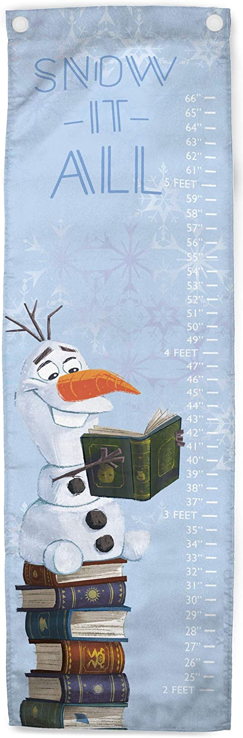 Jay Franco Disney Frozen 2 Snow It All Growth Chart – Kids Removeable Wall Décor Features Olaf (Official Disney Product)
