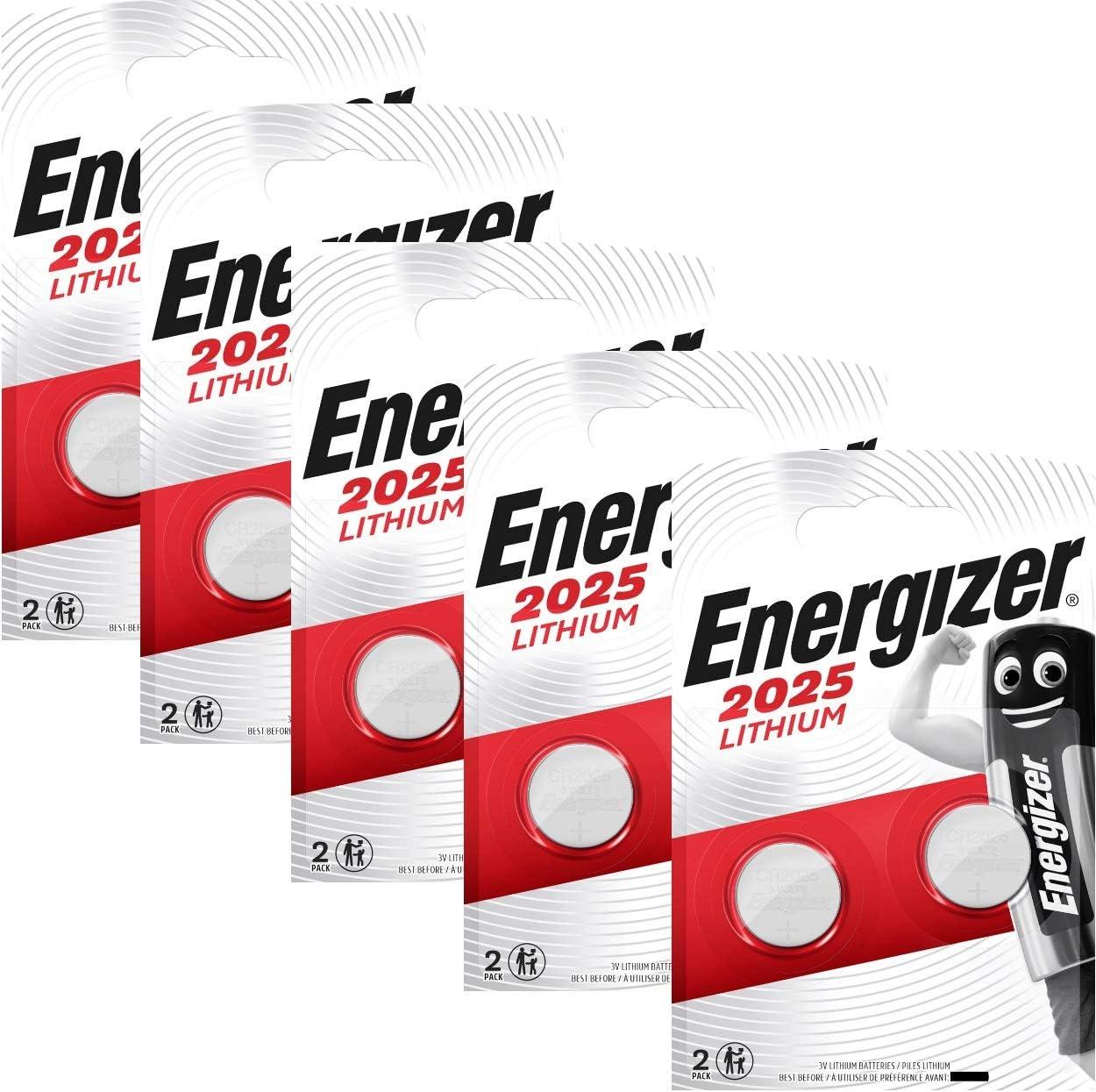 Energizer 637988SET - Pilas de botón, Litio CR2025, 3 V, 5 pack de ...