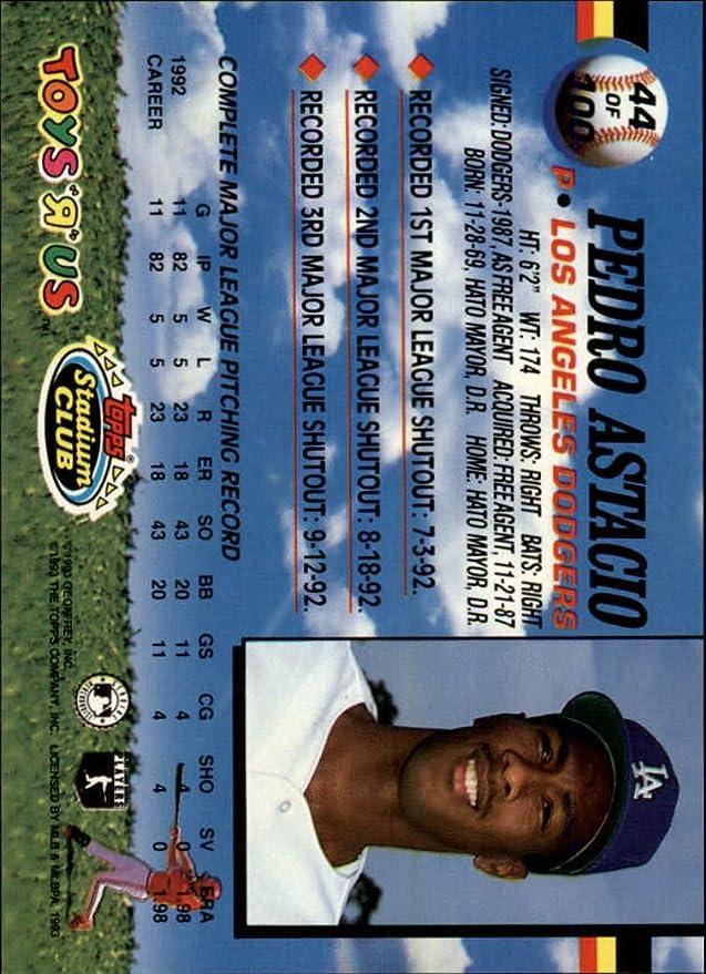 1993 ToysRUs 44 Pedro Astacio At Amazons Sports Collectibles Store