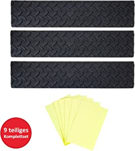 UPP® alfombrillas antideslizantes, juego de 3, set de ahorro I bandas, tiras de goma anti deslizamiento para peldaños de escalera I felpudo a prueba de resbales: Amazon.es: Hogar