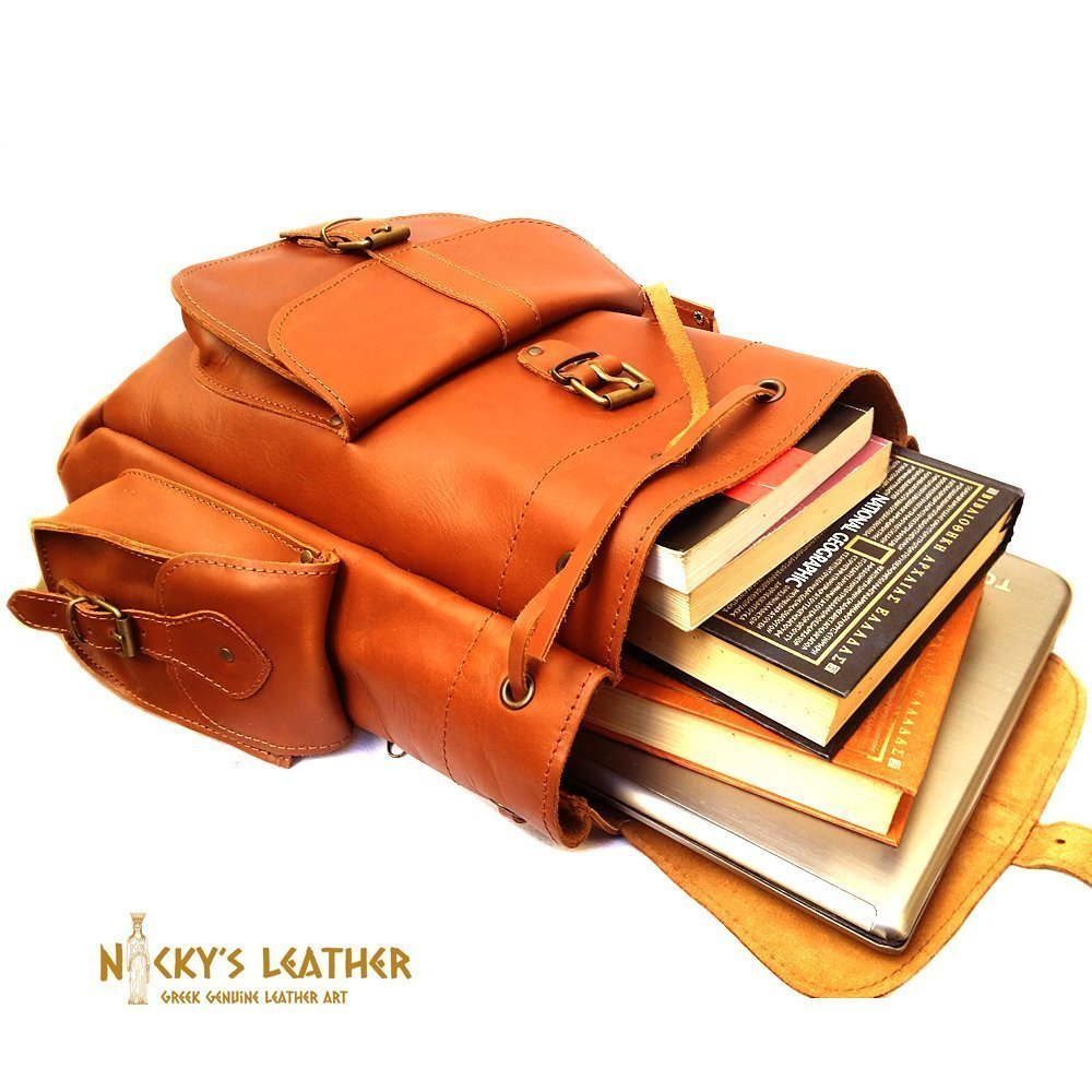 LEATHER BACKPACK from Real Full Grain Leather