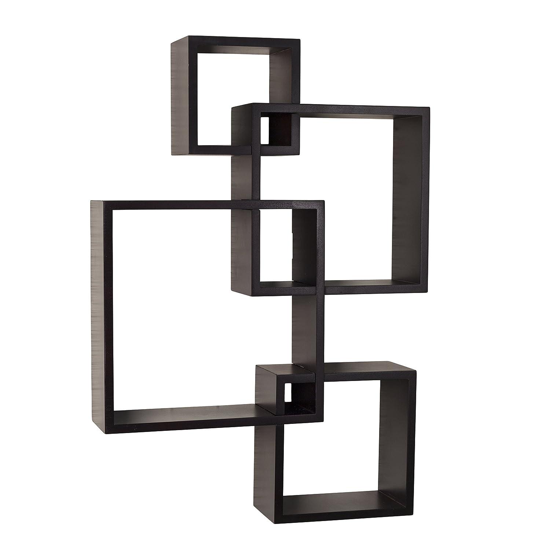 Amazon danya b br1023es intersecting cube shelves espresso amazon danya b br1023es intersecting cube shelves espresso home kitchen amipublicfo Choice Image