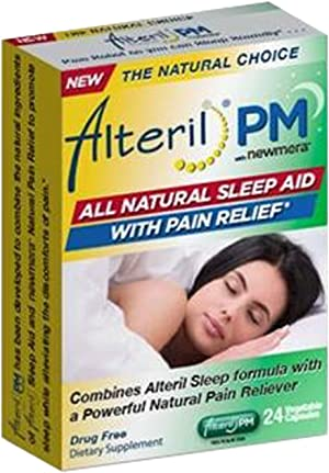 Alteril PM - All Natural Sleep Aid with Pain Relief - 24 Tablets