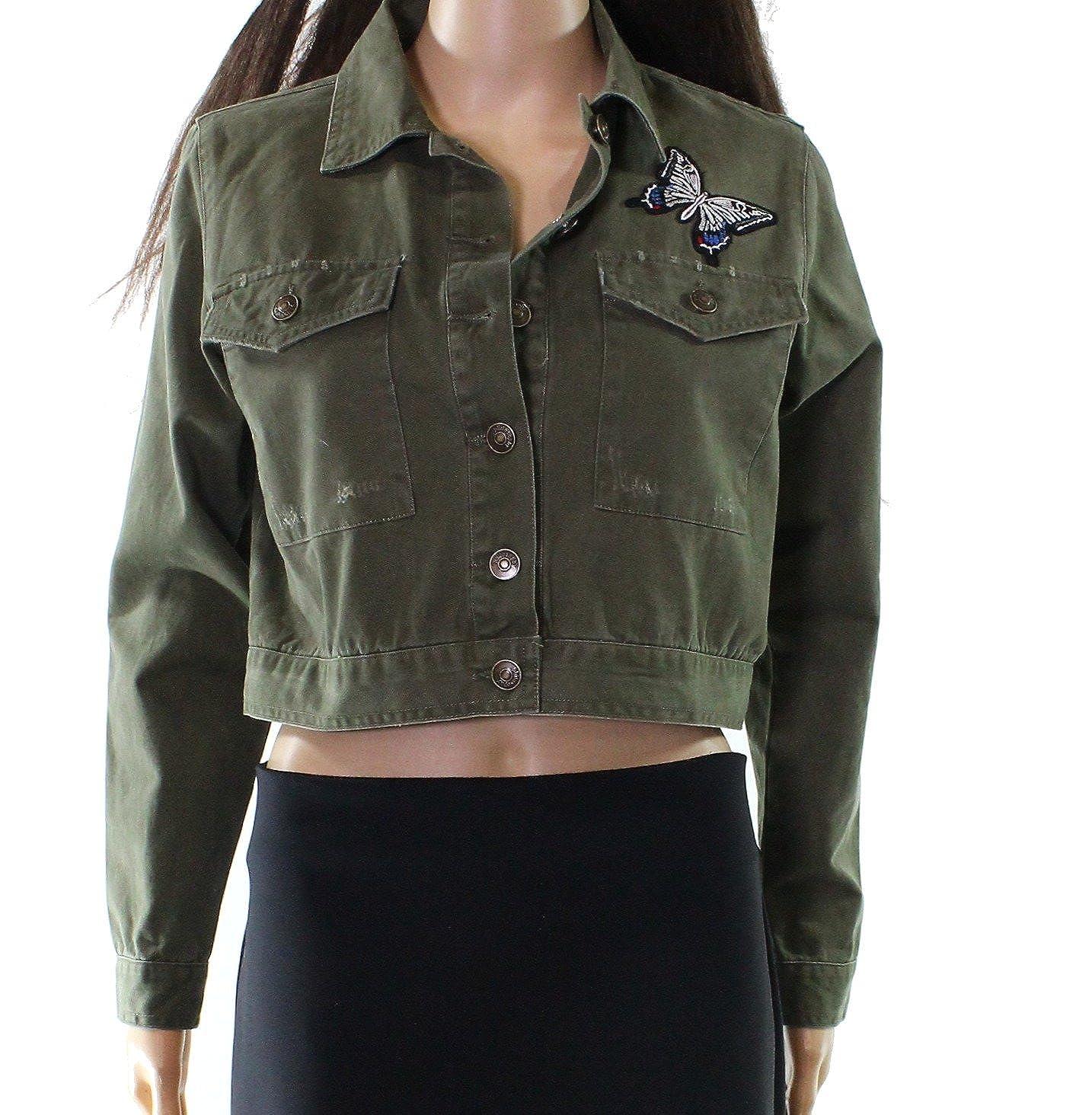 d57b701ff Top11: Philosophy Womens Medium Butterfly Embroidered Denim Jacket