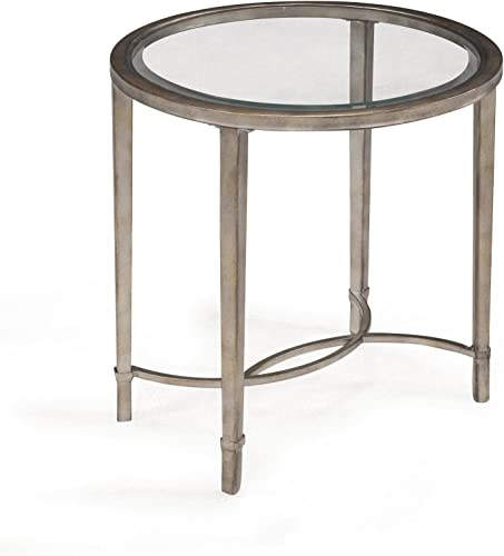Magnussen Home Furnishings T2114 Copia Brushed Metal Oval End Table