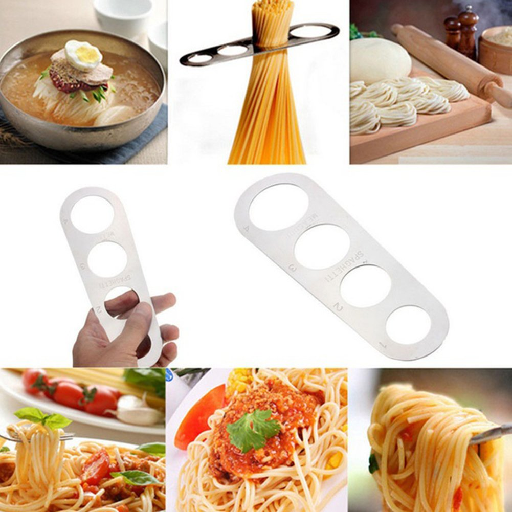 Stainless Steel Spaghetti Measure Measurer,Stainless Steel Spaghetti Pasta Measure Tool,4 Serving Portion Control Cooking Tools,Pasta Portion Control Gadgets(silver) by YOTHG (Image #7)
