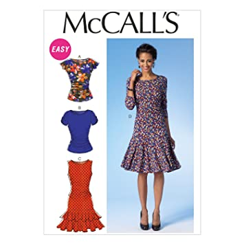 af31453ae33 Image Unavailable. Image not available for. Color  McCall Pattern Company  M7046 Misses  Tops and Dresses Sewing Template ...