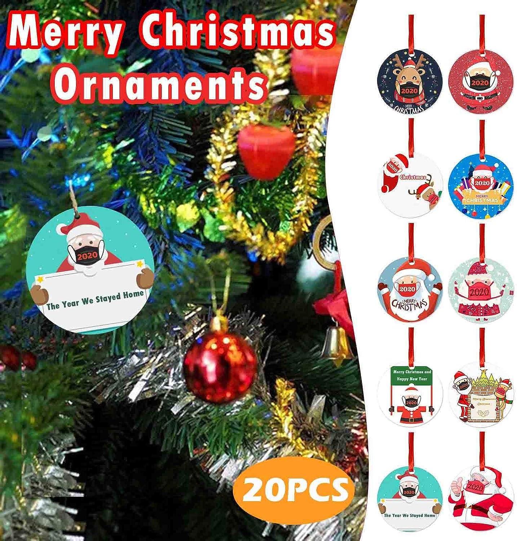 Uamaze 20pcs Christmas Pendant with Lanyard for 2020 WAS £14.97 NOW £5.98 w/code CHIG9UC6 @ Amazon