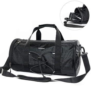 70a295787f Sac de Sport Homme avec Compartiment à Chaussures Sacs de Voyage  Imperméables de Grande Capacité Sac