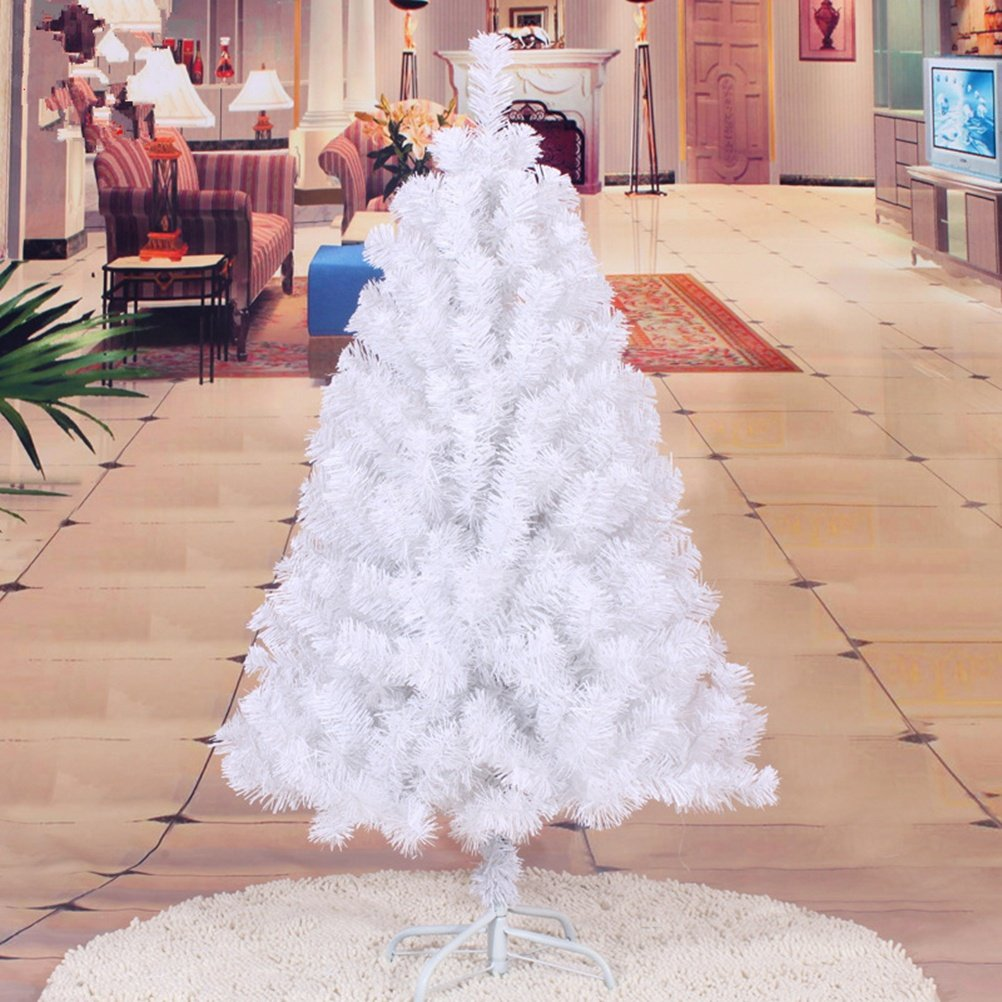 Christmas tree 4 Feet 218t colorful encryption iron feet Christmas decoration (Color: White)