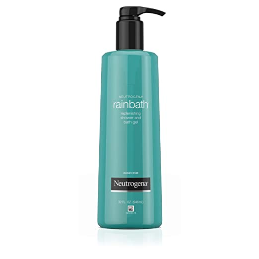 Neutrogena Rainbath Replenishing and Cleansing Shower and Bath Gel, Moisturizing Body Wash and Shaving Gel with Clean Rinsing Lather, Ocean Mist Scent, 32 fl. oz