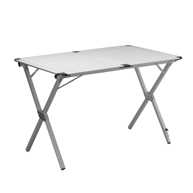 Campart Campingtisch/Reisetisch-110x70 cm wetterBesteändige Rolltischfläche aus Aluminium/mit mitgelieferte Transporttasche,TA-0802