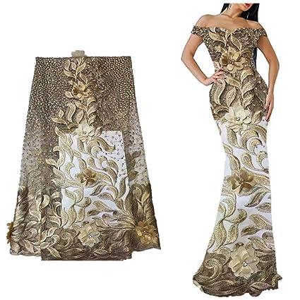 Amazoncom Lace Fabric Laceso 5 Yard Nigerian French Lace Netting