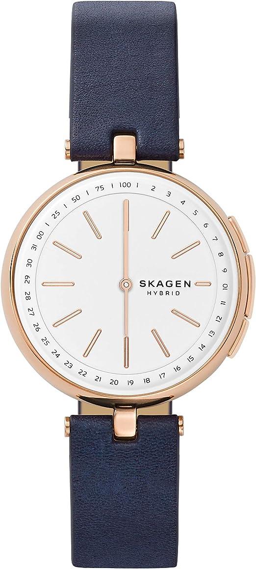 Skagen Smartwatch Donna con Cinturino in Pelle SKT1412: Amazon.it ...