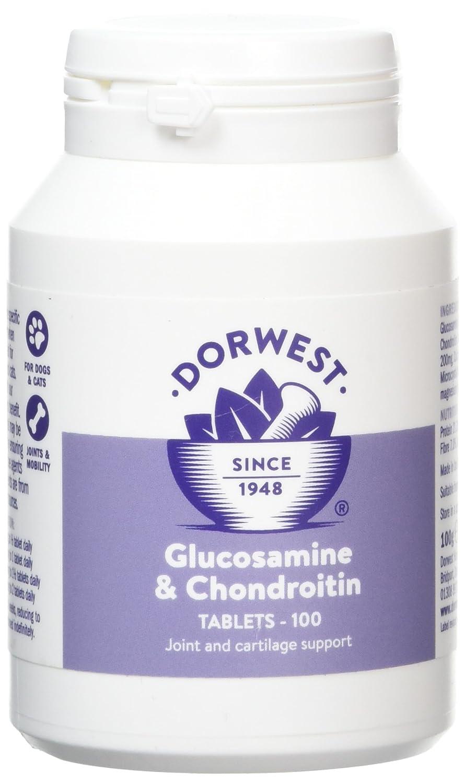 Comprimés glucosamine et chondroïtine, pour chats et chiens, 100 Dorwest DWGC100