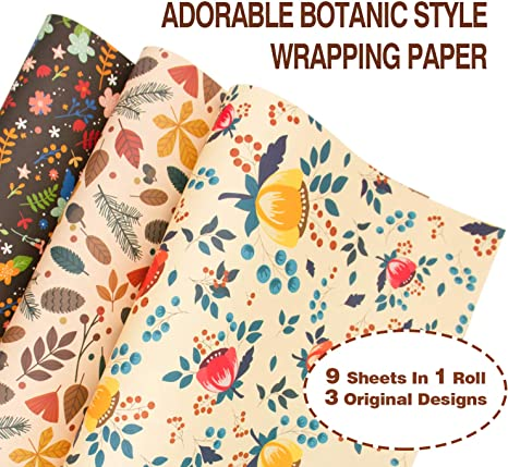 2 sheets of 70x50cm quality SHOW GIRLS gift-wrap eco-friendly wrap