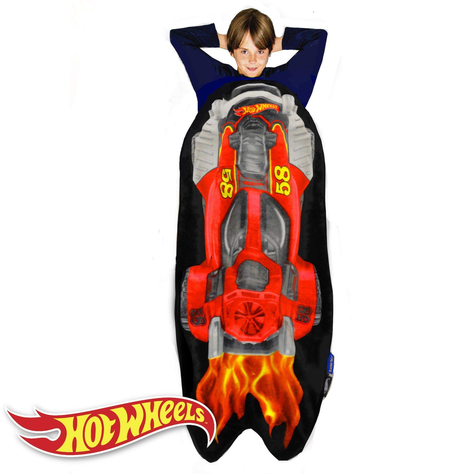 Blankie Tails Hot Wheels Car Shaped Blanket Super Soft-Double Sided Minky Fleece Sized for Kids- Climb Inside This Cozy Wearable Blanket by Blankie Tails