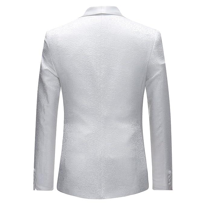 Abito da Uomo 3 Pezzi Slim Fit Wedding Abiti da Pranzo per Uomo Giacca  Scialle Bavero Bavero Giacca Gilet Pantaloni  Amazon.it  Abbigliamento 5be86f5d3af