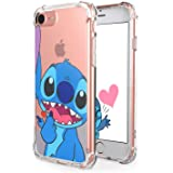 "Logee Sweet TPU Cute Cartoon Clear Case for iPhone 8/iPhone 7 /SE 2020 4.7"",Fun Kawaii Animal Soft Cover,Shockproof Funny Cha"