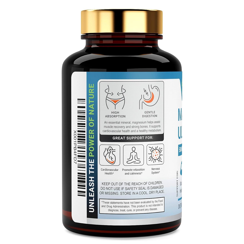 Citrato de Magnesio - Capsulas de Citrato de Magnesio 500 mg -